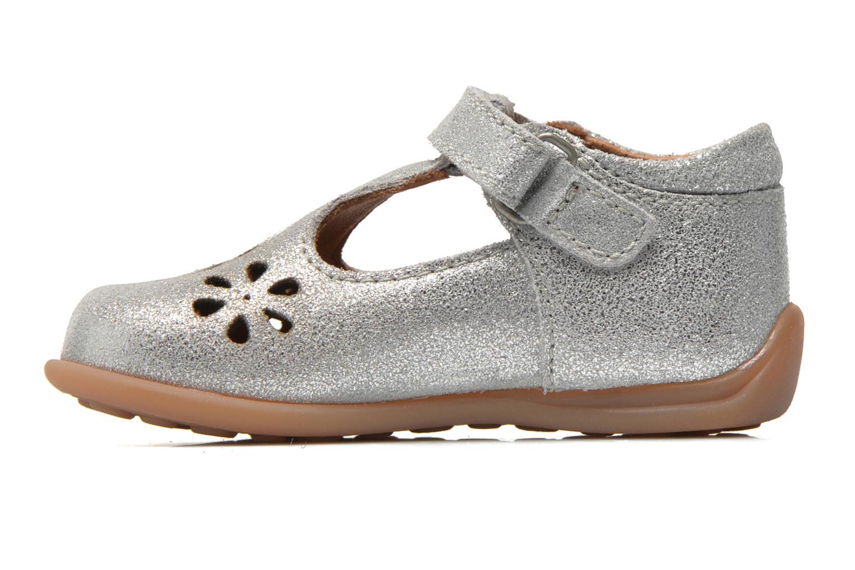 Chaussures à scratch Bisgaard Tia Argent vue face