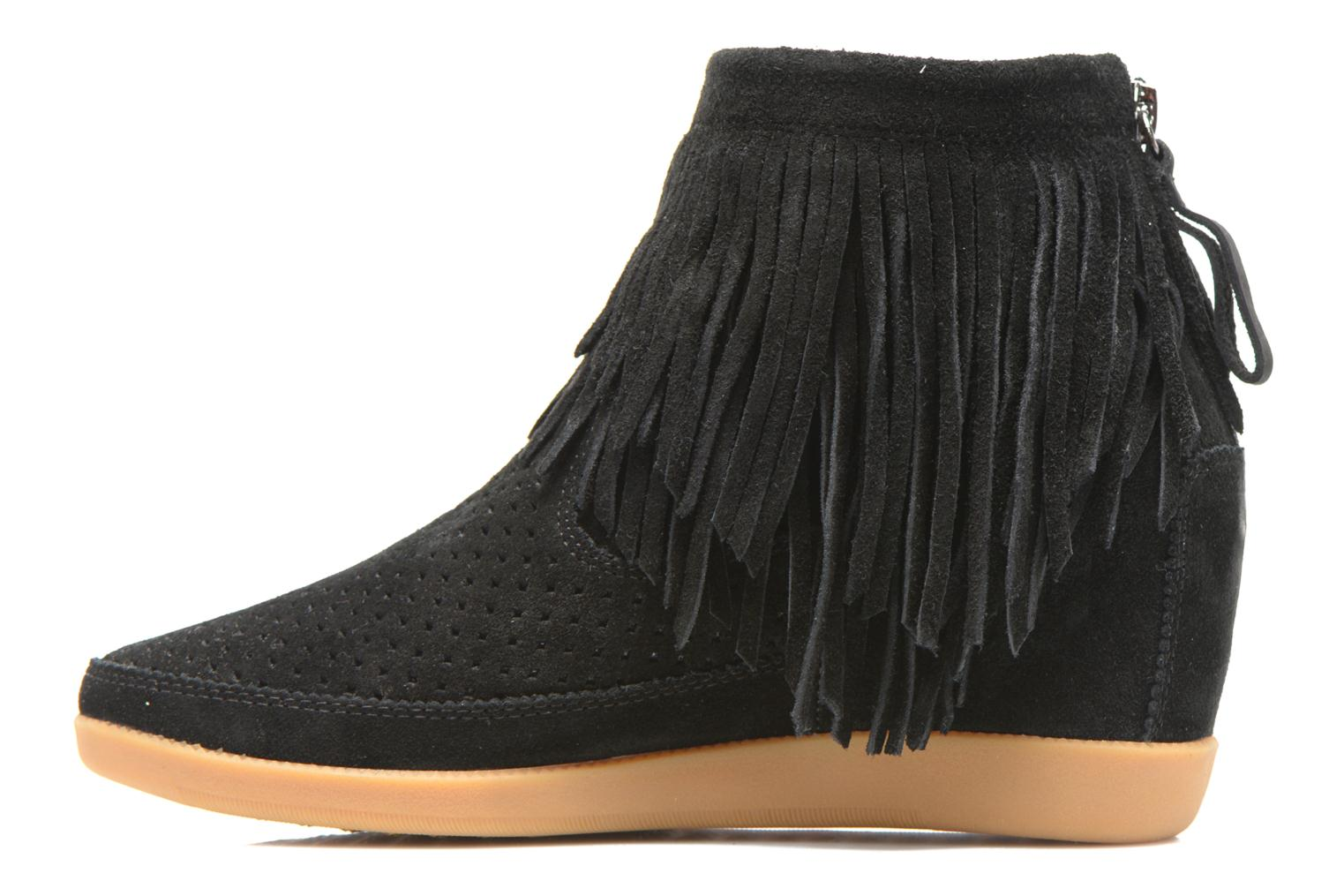 Ankle boots Shoe the bear Emmy Fringes Black front view