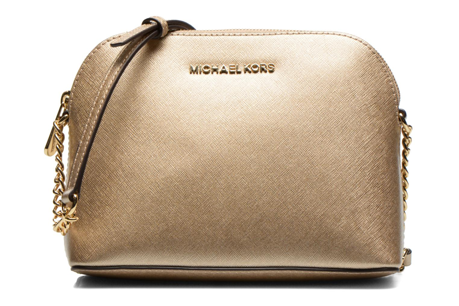 Handbags Michael Michael Kors CINDY LG Dome Crossbody Bronze and Gold  detailed view/ Pair view