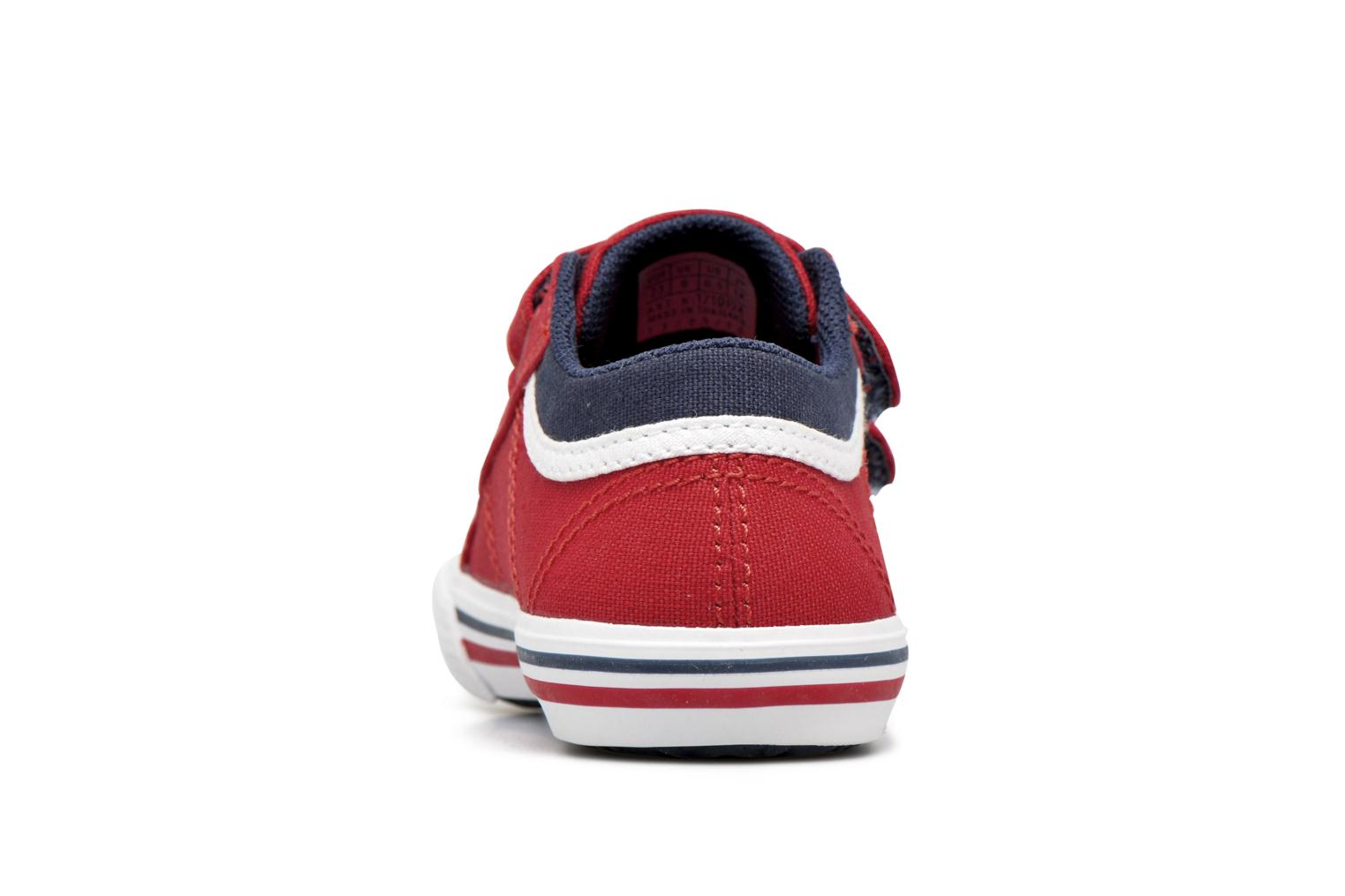 Trainers Le Coq Sportif Saint Gaetan Inf Red view from the right