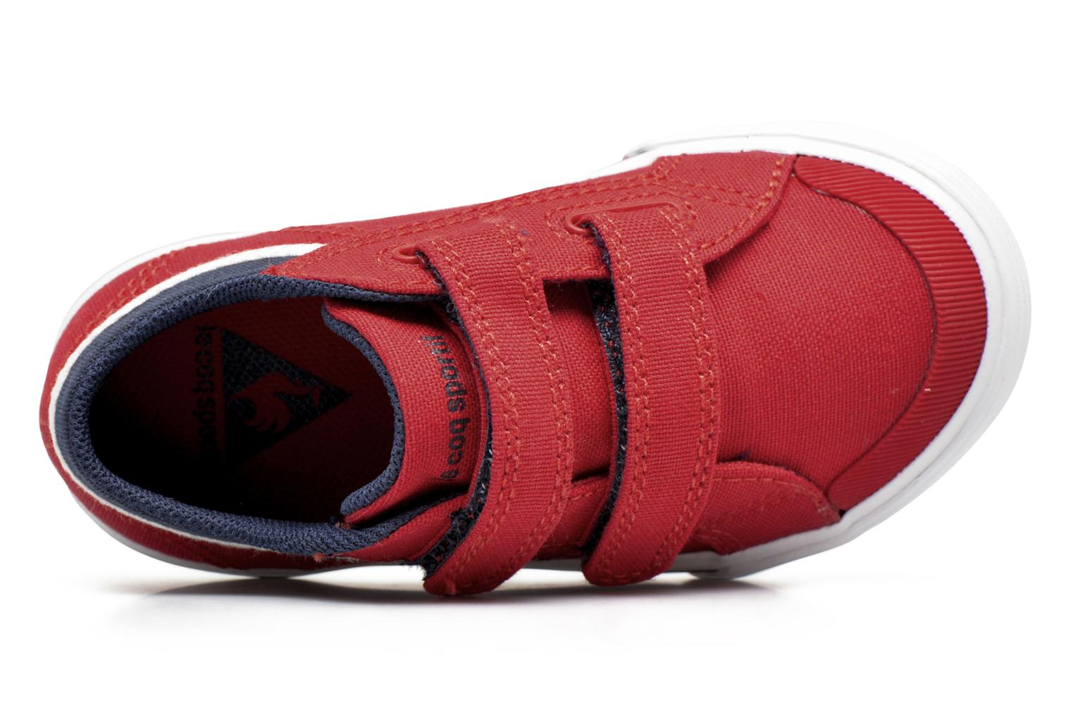 Trainers Le Coq Sportif Saint Gaetan Inf Red view from the left