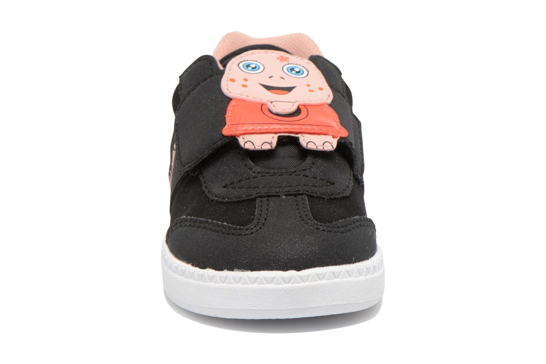 Baskets Le Coq Sportif Tacleone Inf ANIMAL Face Girl Noir vue portées chaussures