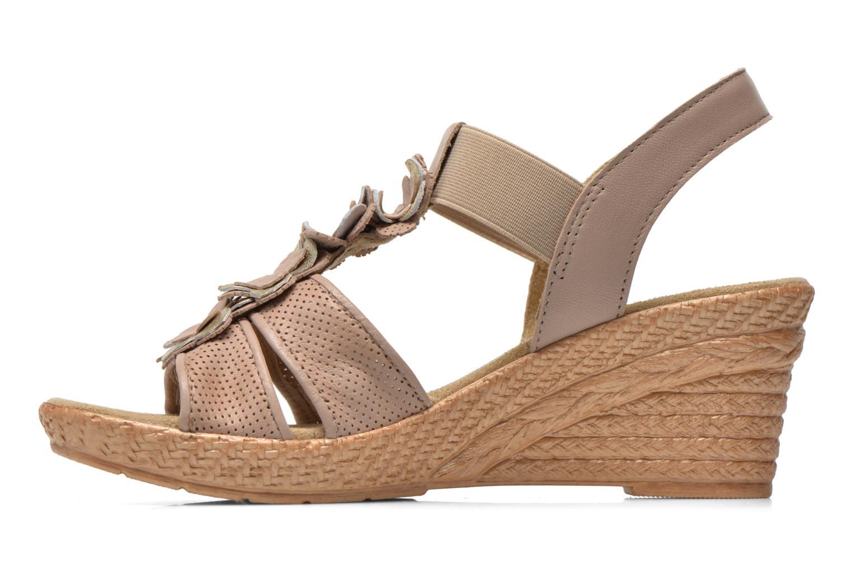Sandales et nu-pieds Jana shoes Morana Beige vue face
