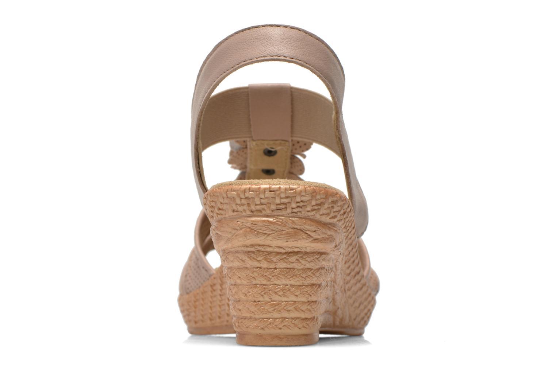 Sandalias Jana shoes Morana Beige vista lateral derecha