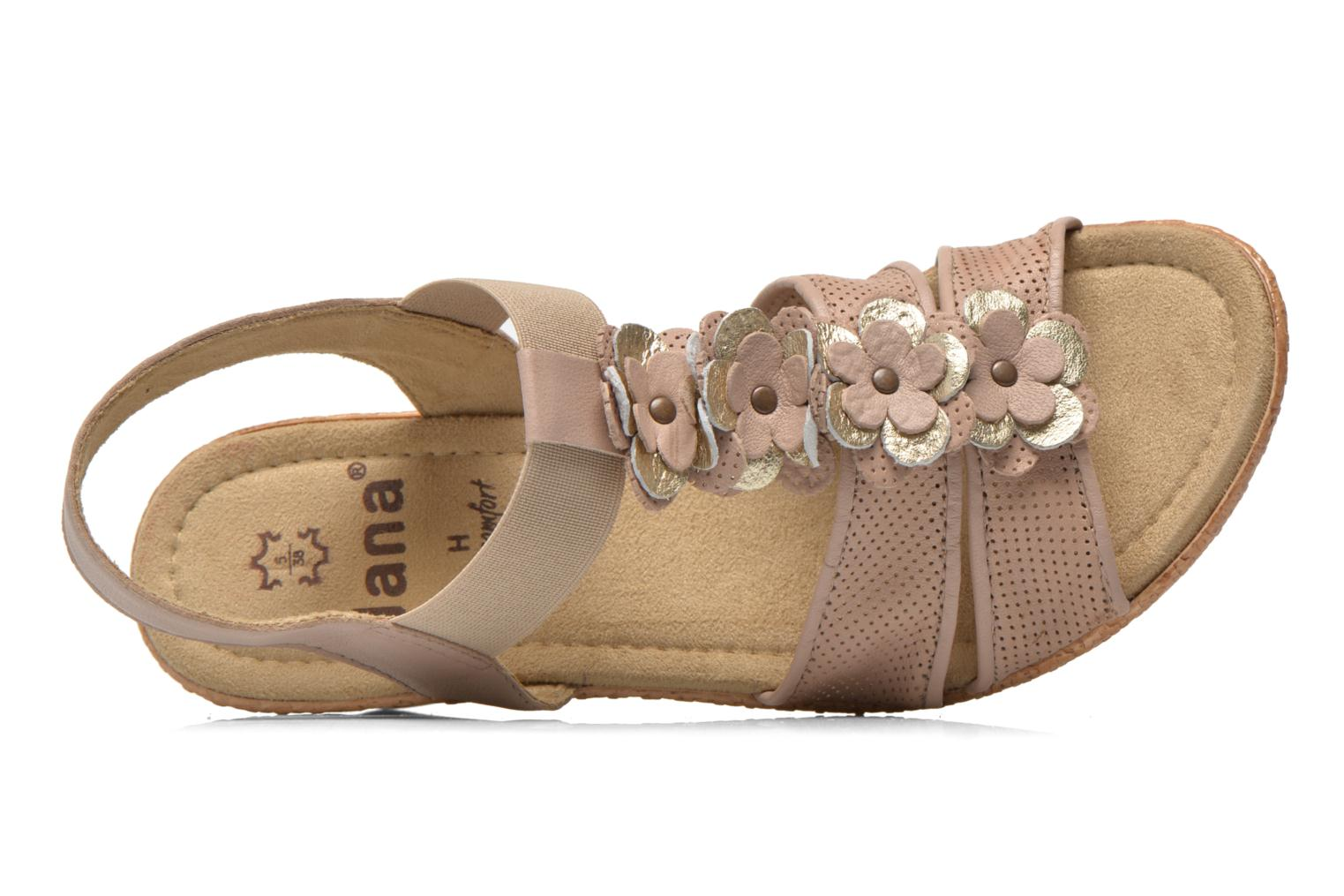 Sandals Jana shoes Morana Beige view from the left