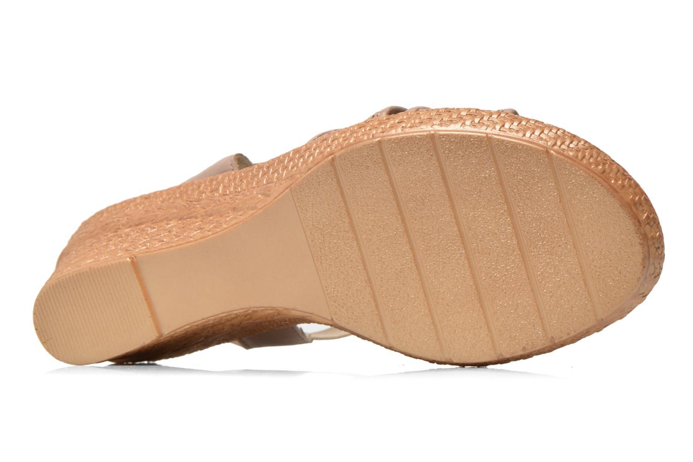 Sandales et nu-pieds Jana shoes Morana Beige vue haut