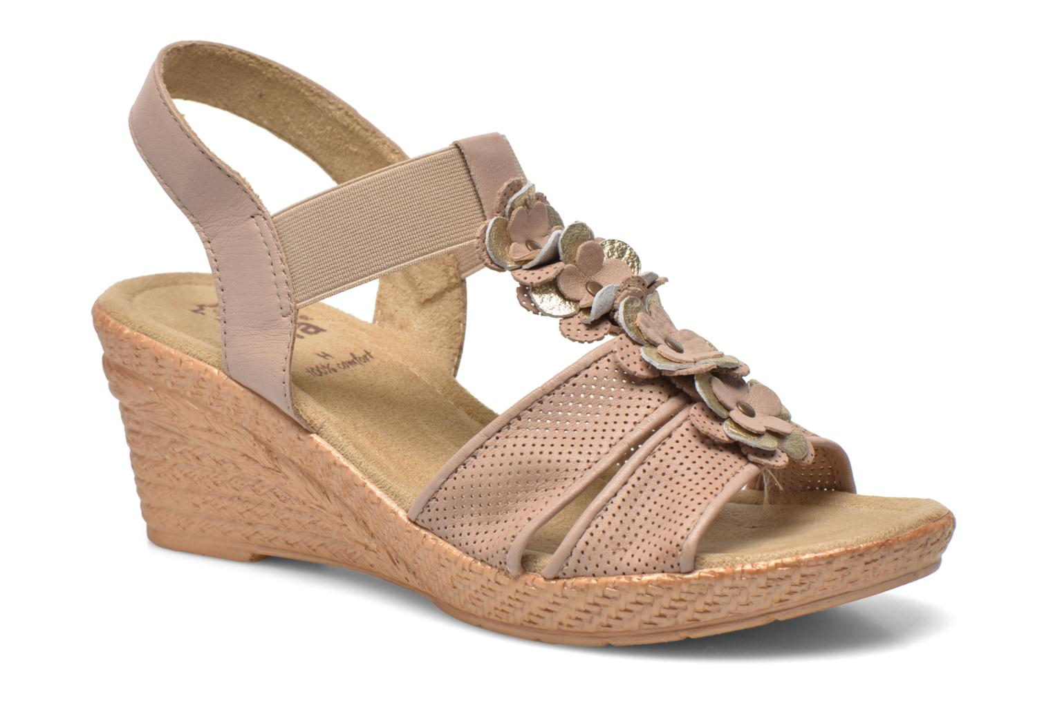 Sandals Jana shoes Morana Beige detailed view/ Pair view