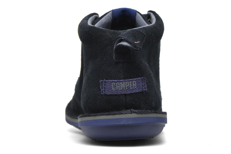 Chaussures à lacets Camper Beetle Street Kids Bleu vue droite