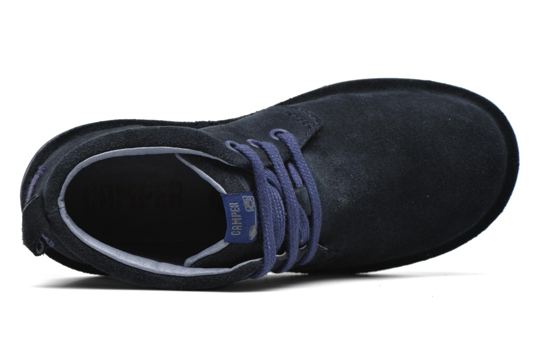 Chaussures à lacets Camper Beetle Street Kids Bleu vue gauche
