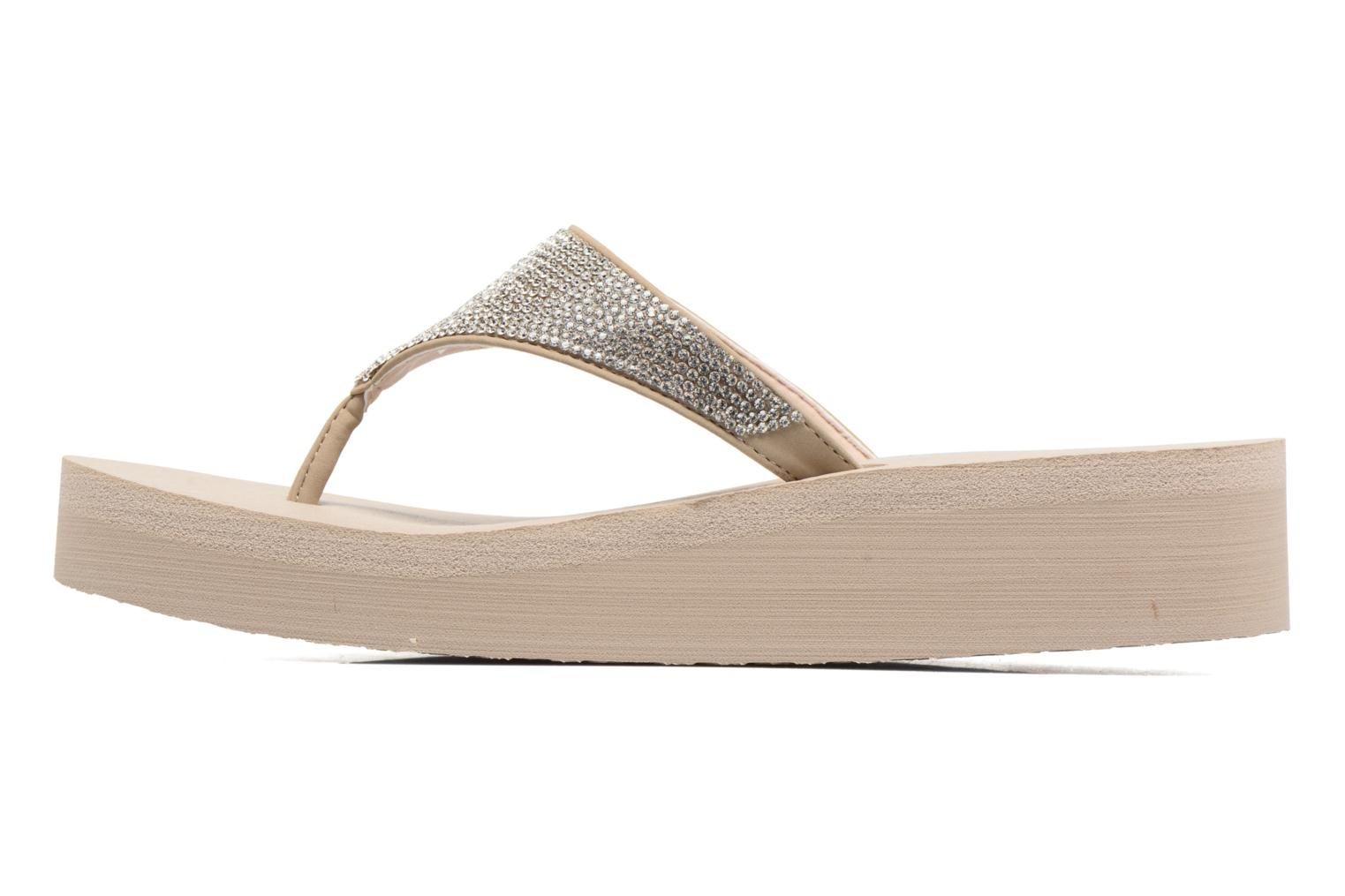 Tongs Skechers Vinyasa Beige vue face