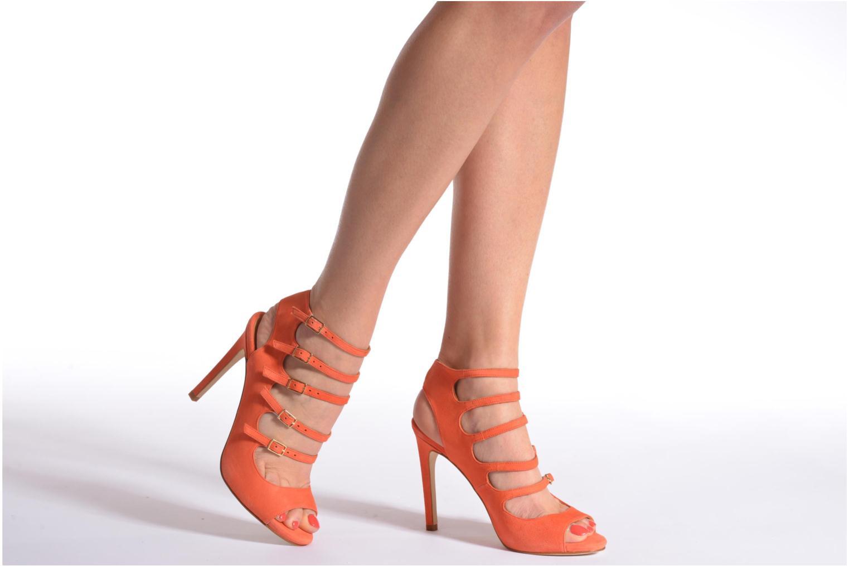 Sandales et nu-pieds Made by SARENZA Loulou au Luco #7 Orange vue bas / vue portée sac