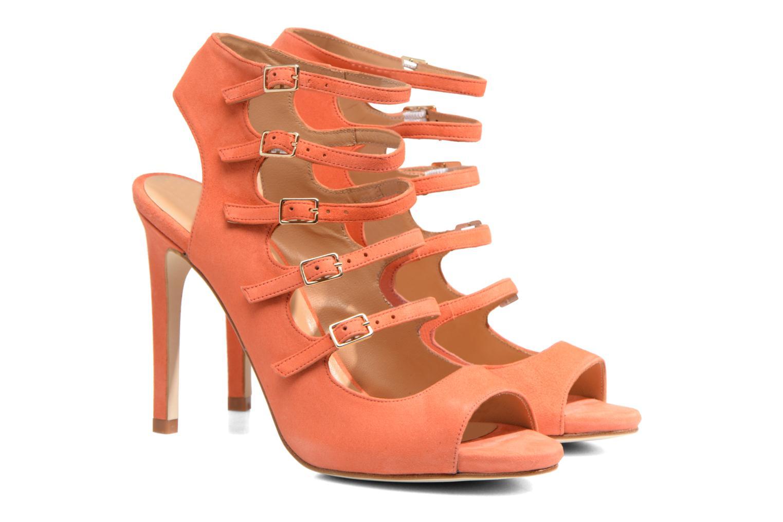 Sandales et nu-pieds Made by SARENZA Loulou au Luco #7 Orange vue derrière