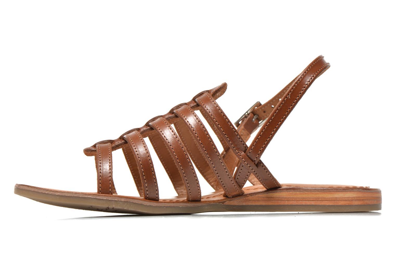 Sandales et nu-pieds Les Tropéziennes par M Belarbi Havapo Marron vue face