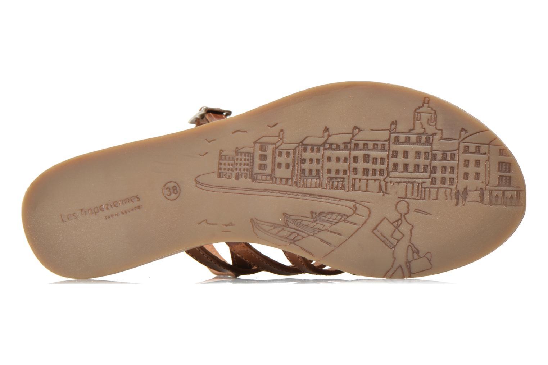 Sandalen Les Tropéziennes par M Belarbi Havapo braun ansicht von oben