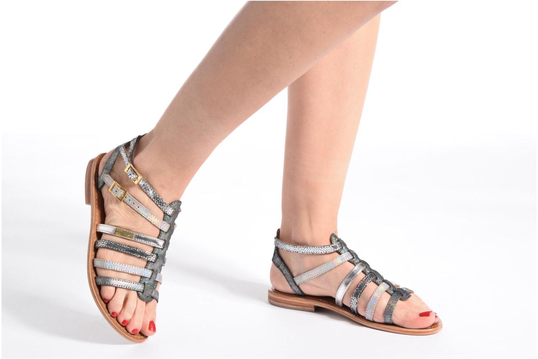 Sandales et nu-pieds Les Tropéziennes par M Belarbi Baille Gris vue bas / vue portée sac