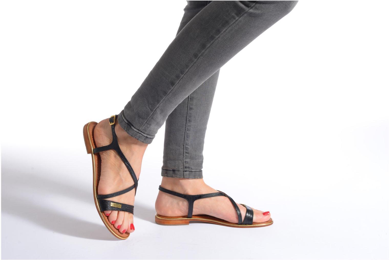 Sandales et nu-pieds Les Tropéziennes par M Belarbi Basilic Noir vue bas / vue portée sac