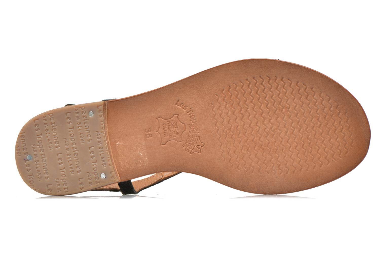 Sandales et nu-pieds Les Tropéziennes par M Belarbi Basilic Noir vue haut
