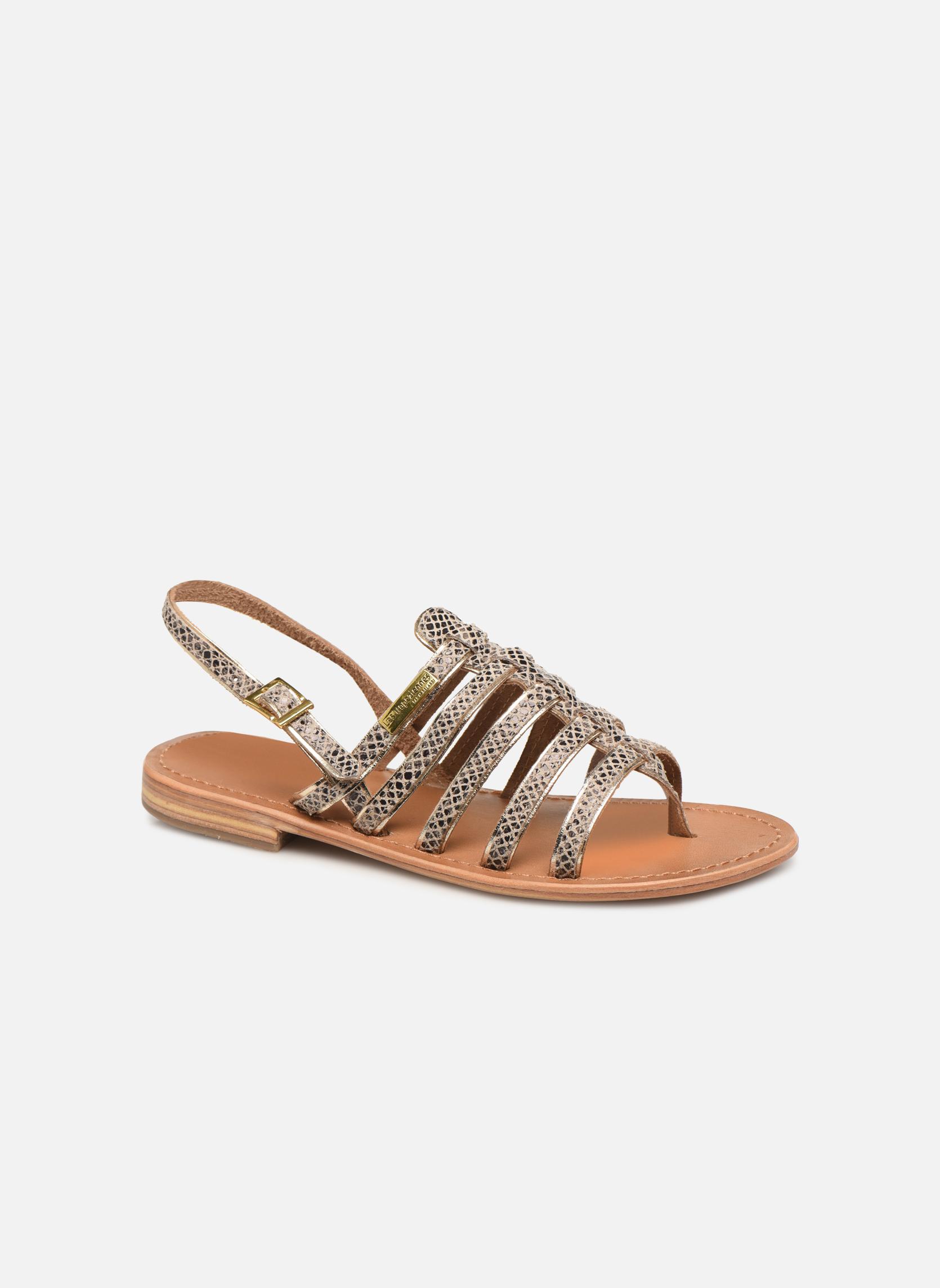 Sandals Les Tropéziennes par M Belarbi Herbier Grey detailed view/ Pair view