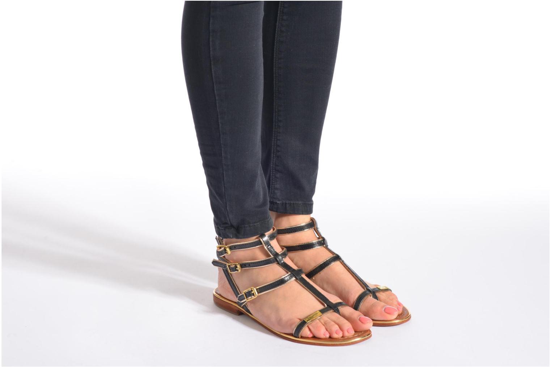 Sandales et nu-pieds Les Tropéziennes par M Belarbi Bristol Noir vue bas / vue portée sac
