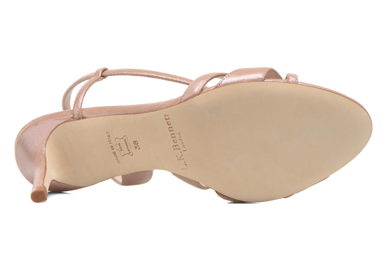Sandales et nu-pieds L.K. Bennett Lourdes Rose vue haut