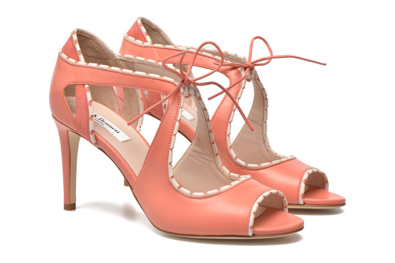 Sandales et nu-pieds L.K. Bennett Miki Orange vue 3/4