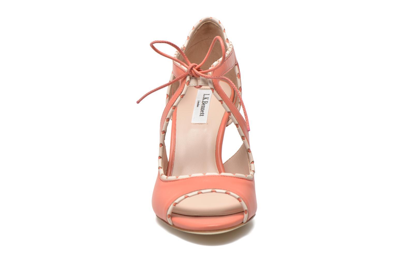 Sandales et nu-pieds L.K. Bennett Miki Orange vue portées chaussures