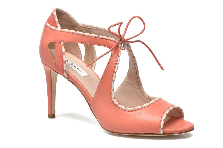 Sandales et nu-pieds L.K. Bennett Miki Orange vue détail/paire