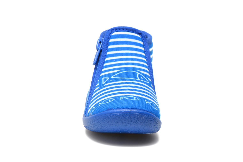 Chaussons Be Only Botillon Zip Timouss Bleu vue portées chaussures