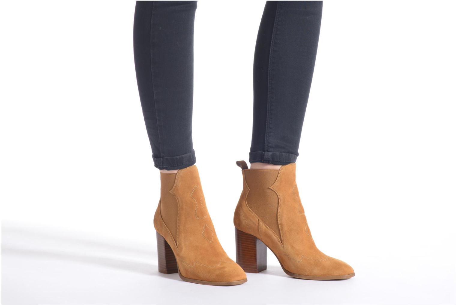 Ankle boots Made by SARENZA Western Fever #8 Brown view from underneath / model view