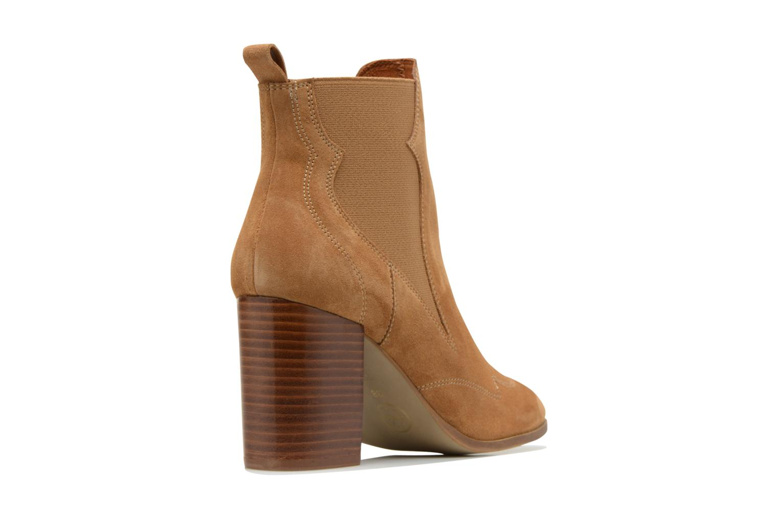 Ankle boots Made by SARENZA Western Fever #8 Brown front view