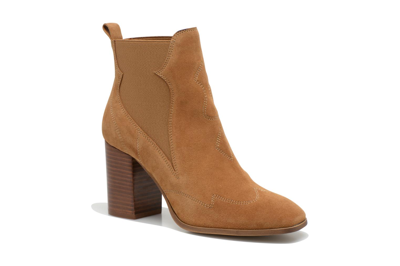 Ankle boots Made by SARENZA Western Fever #8 Brown view from the right