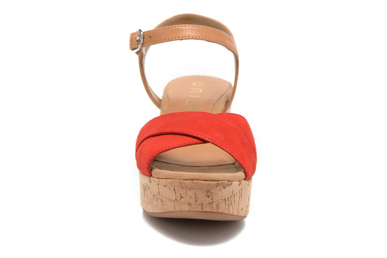 Sandales et nu-pieds Unisa Kiber Rouge vue portées chaussures