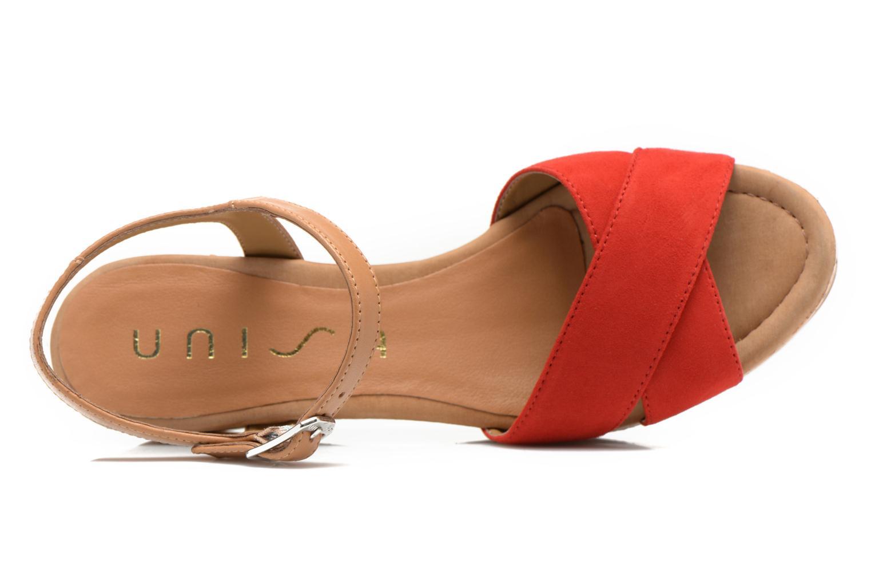 Sandales et nu-pieds Unisa Kiber Rouge vue gauche