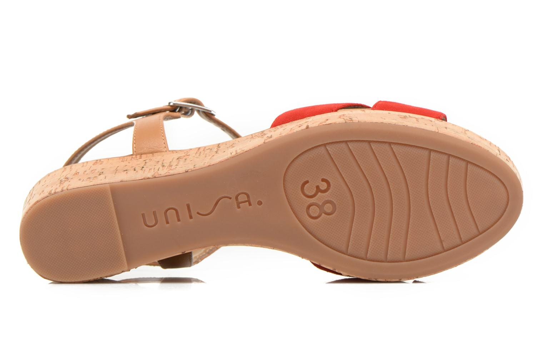 Sandales et nu-pieds Unisa Kiber Rouge vue haut