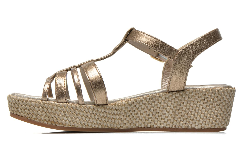 Sandales et nu-pieds Unisa Tolito Or et bronze vue face