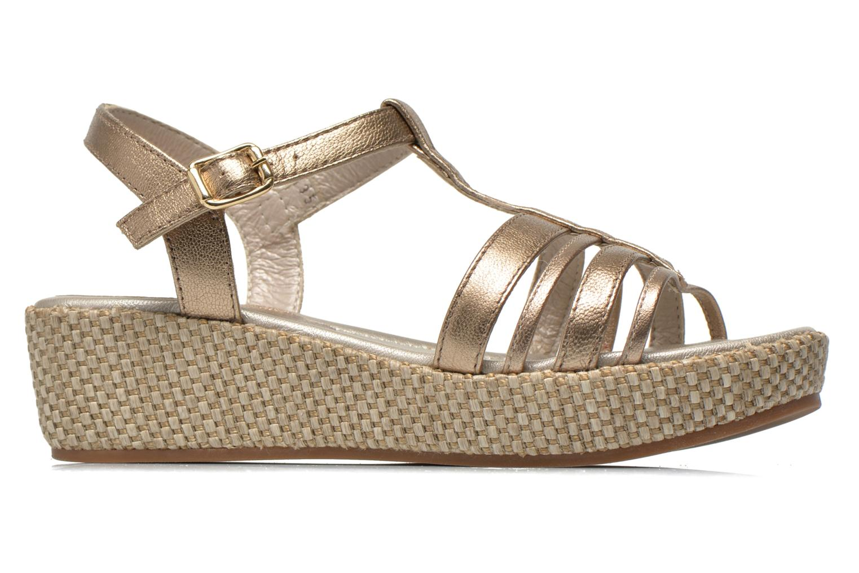 Sandales et nu-pieds Unisa Tolito Or et bronze vue derrière