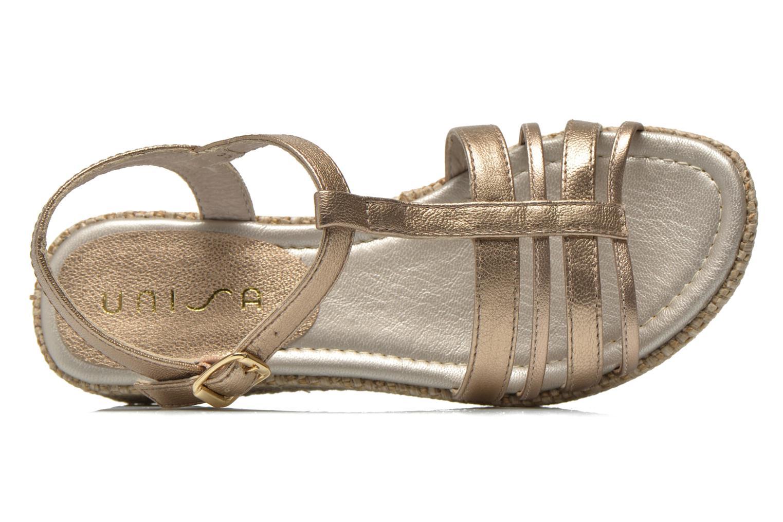 Sandales et nu-pieds Unisa Tolito Or et bronze vue gauche