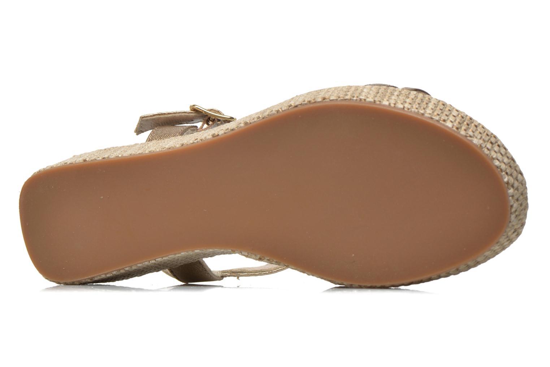 Sandales et nu-pieds Unisa Tolito Or et bronze vue haut