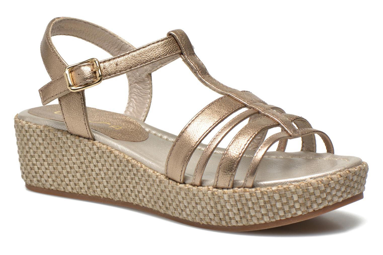 Sandales et nu-pieds Unisa Tolito Or et bronze vue détail/paire