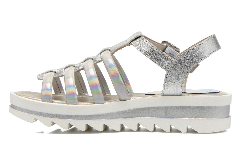 Sandals Unisa Tresor Silver front view