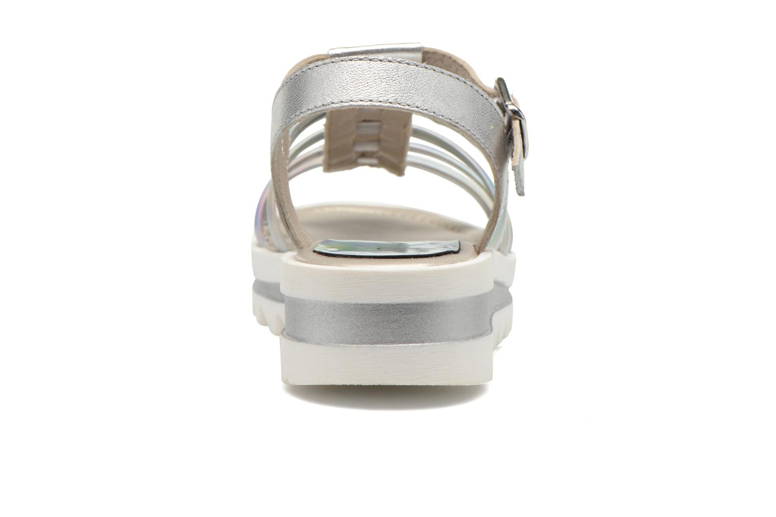 Sandals Unisa Tresor Silver view from the right