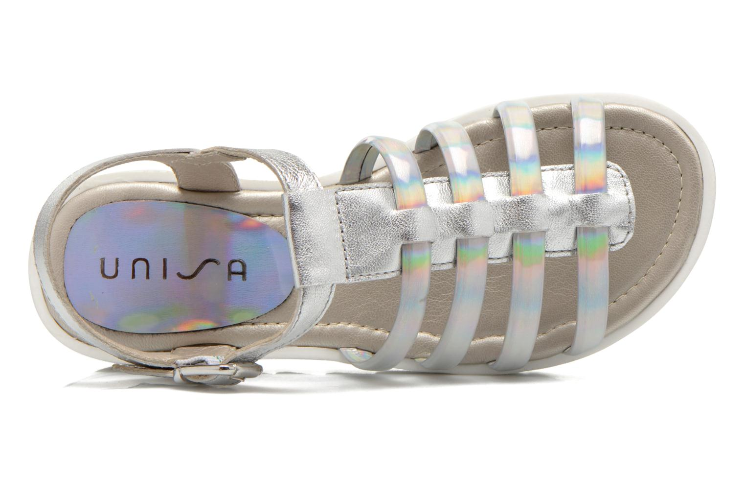 Sandals Unisa Tresor Silver view from the left