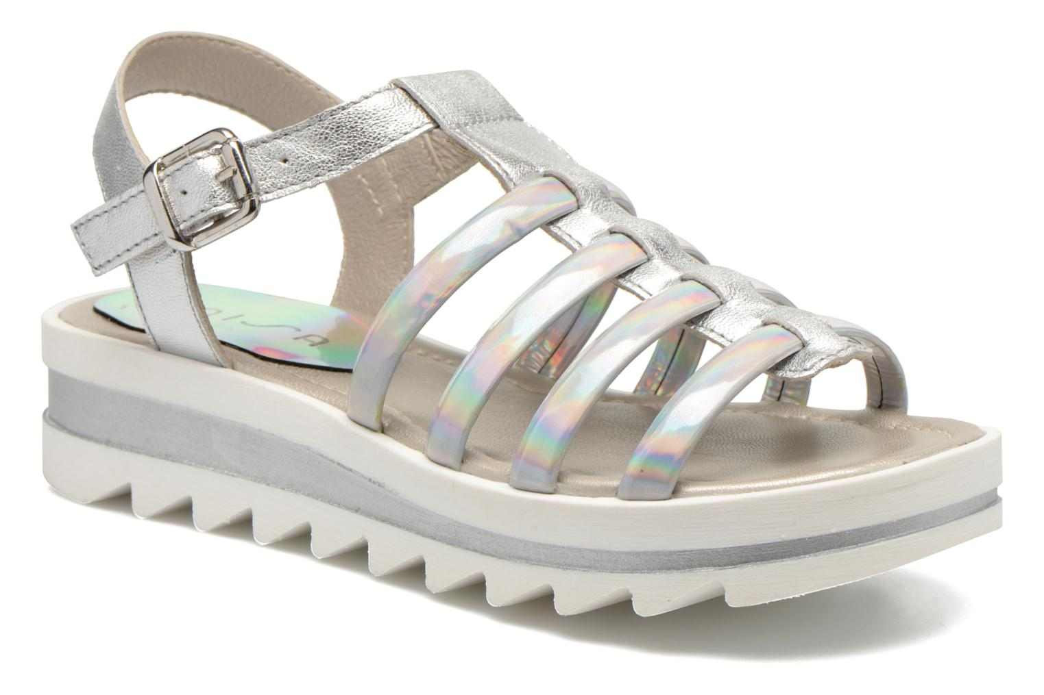 Sandals Unisa Tresor Silver detailed view/ Pair view