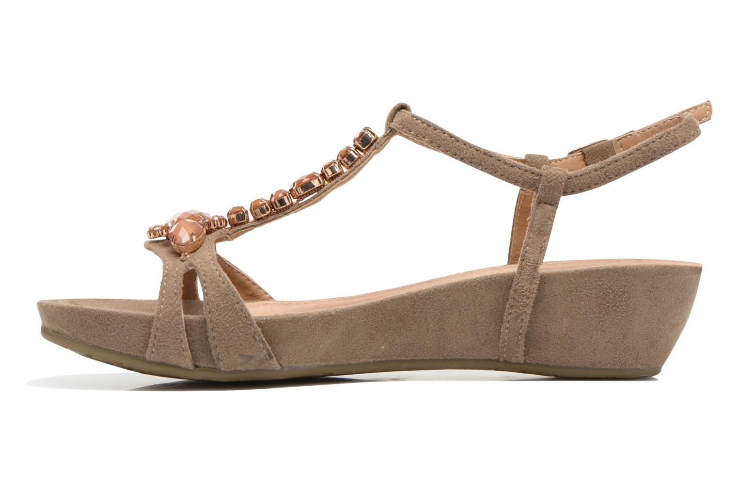 Sandals Xti Olbia Brown front view
