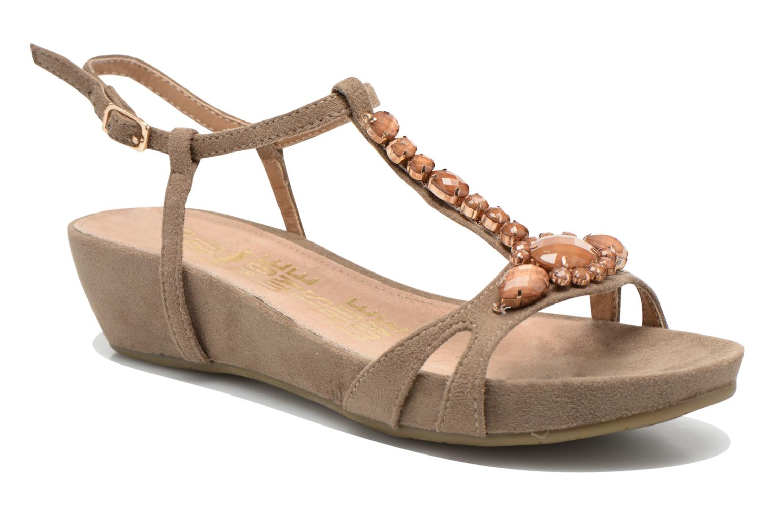 Sandals Xti Olbia Brown detailed view/ Pair view