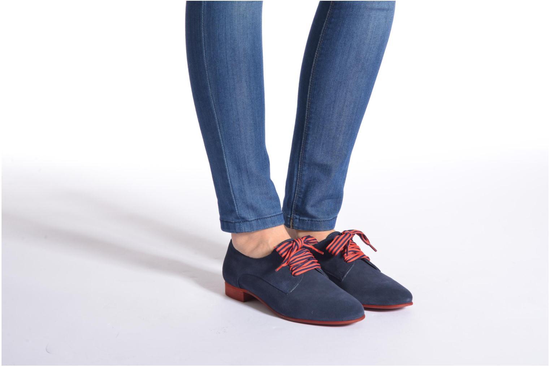 Zapatos con cordones Georgia Rose Alilikou Azul vista de abajo