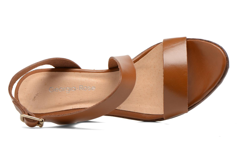 Sandales et nu-pieds Georgia Rose Ecarme Marron vue gauche