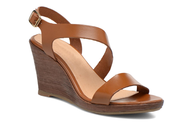 Sandales et nu-pieds Georgia Rose Ecarme Marron vue détail/paire