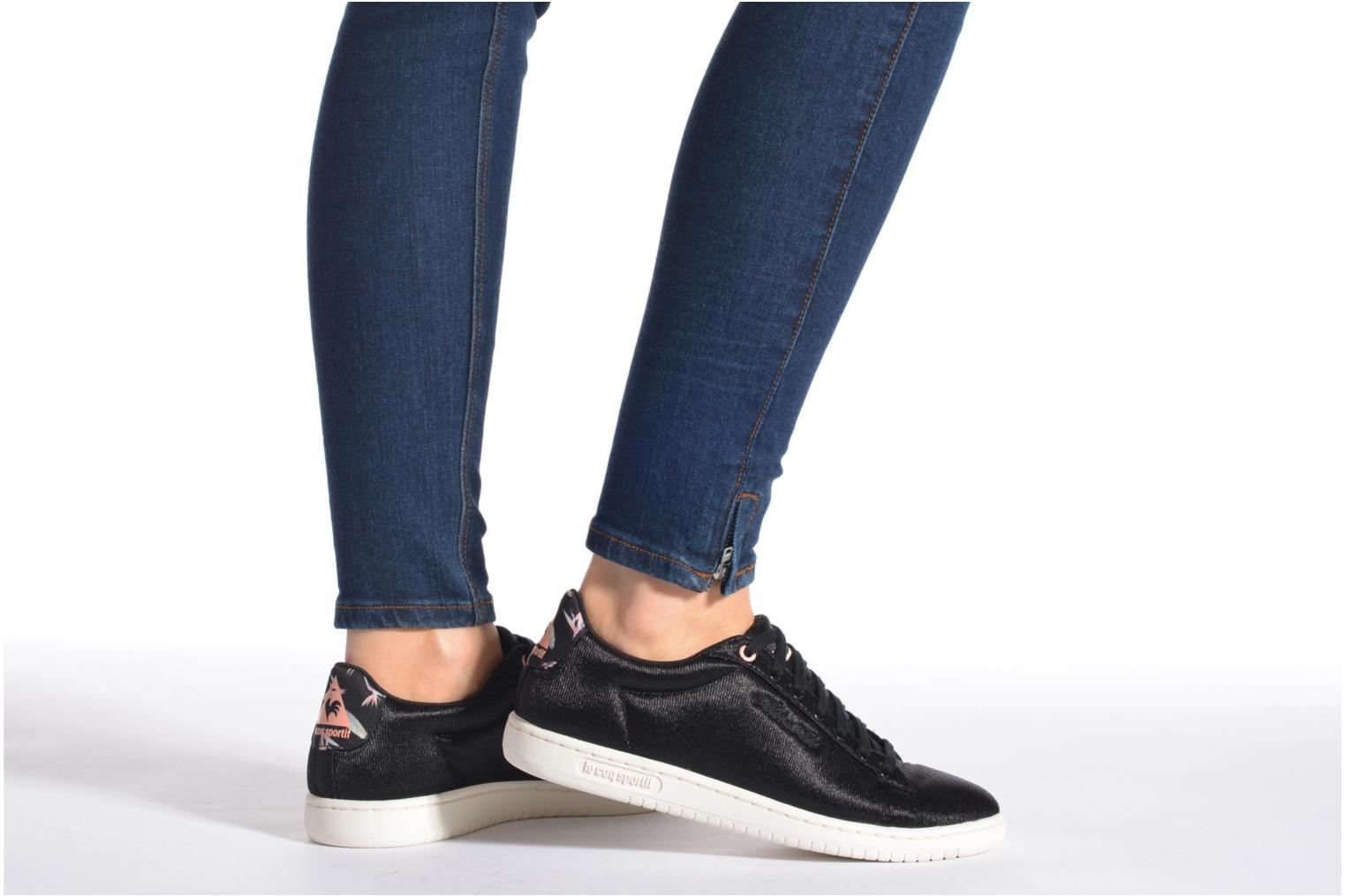 Trainers Le Coq Sportif Arthur Ashe W Bird Of Paradise Black view from underneath / model view