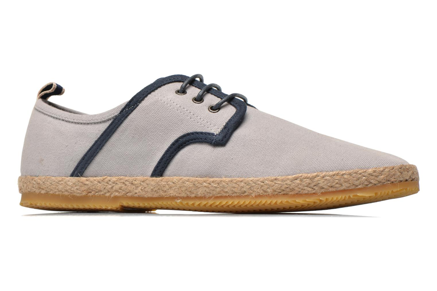 Lace-up shoes Schmoove Venice Side Soft Canvas Grey back view